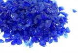 Verre Pilé Décoratif Bleu Foncé 3-7 mm