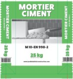 Mortier M10 (Sable + Ciment) – 25 KG